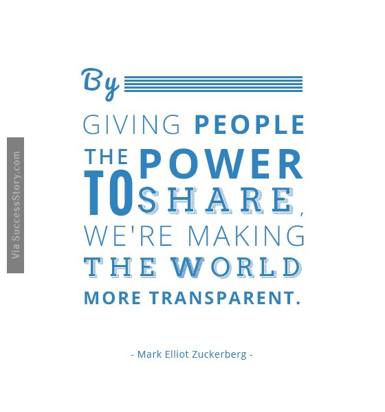 By giving people the power to share