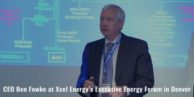 ceo ben fowke at xcel energys executive energy forum in denver