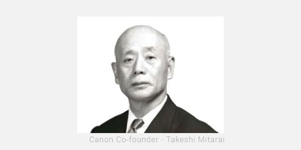 canon co founder   takeshi mitarai