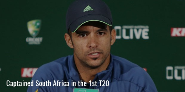 captained south africa in the 1st t20