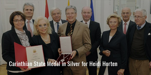 carinthian state medal in silver for heidi horten