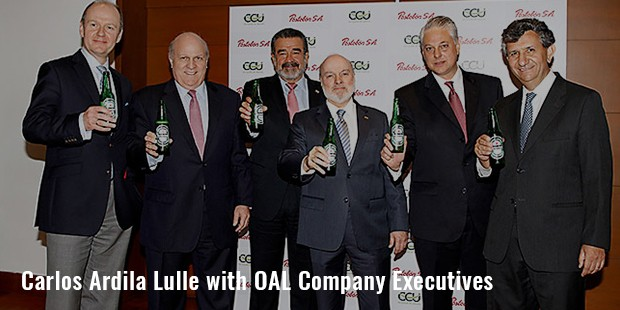 carlos ardila lulle with oal company executives