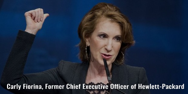 carly fiorina, former chief executive officer of hewlett packard