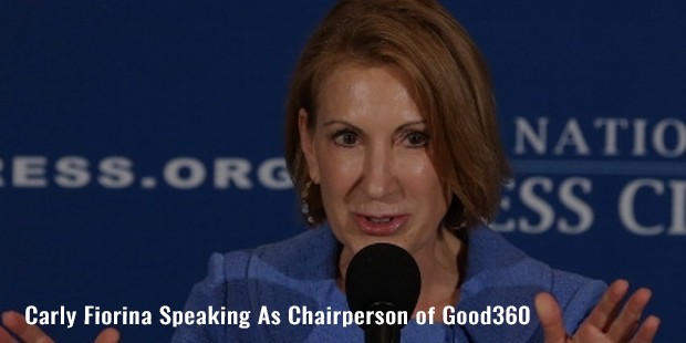 carly fiorina speaking as chairperson of good360