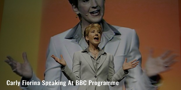 carly fiorina speaking at bbc programme