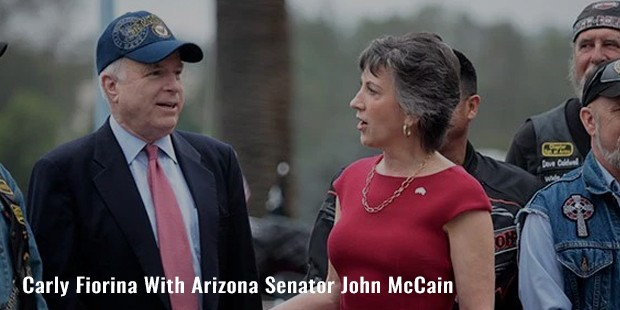 carly fiorina with arizona senator john mccain