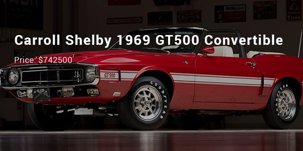 carroll shelby 1969 gt500 convertible