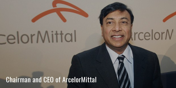 chairman and ceo of arcelormittal