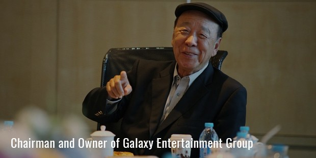 chairman and owner of galaxy entertainment group