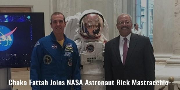 chaka fattah joins nasa astronaut rick mastracchio