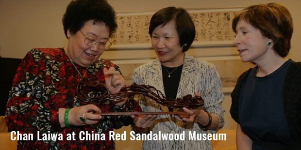 chan laiwa at china red sandalwood museum