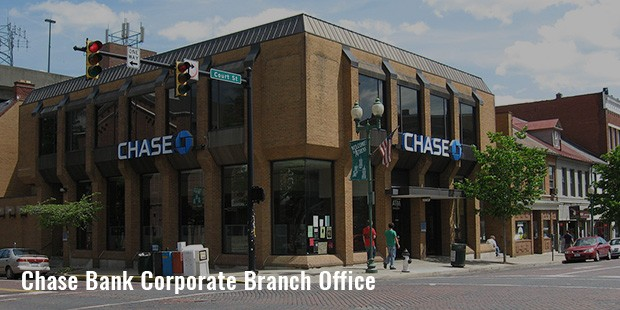 chase bank corporate branch office