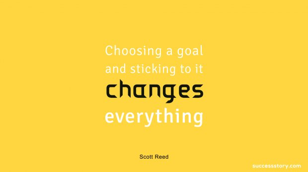 Choosing a goal and sticking