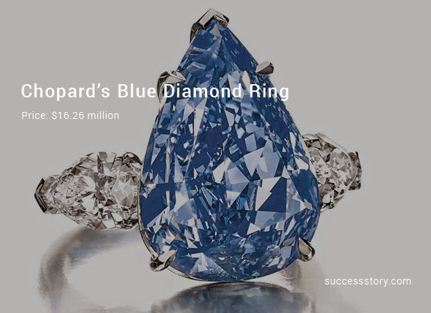 chopard's blue diamond ring