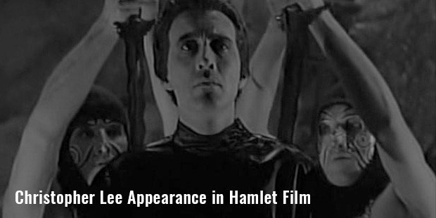 christopher lee appearance in hamlet film