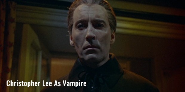 christopher lee as vampire
