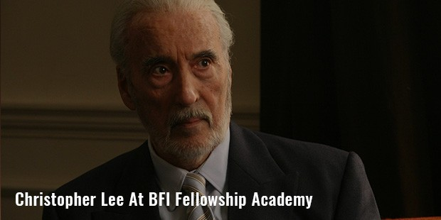 christopher lee at bfi fellowship academy
