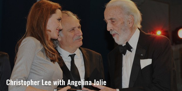 christopher lee with angelina jolie