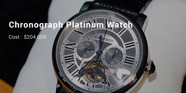 chronograph platinum watch