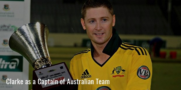clarke as a captain of australian team