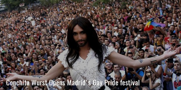 conchita wurst opens madrid s gay pride festival