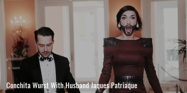 conchita wurst with husband jaques patriaque