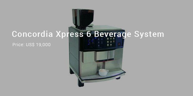 concordia xpress 6 beverage system machine