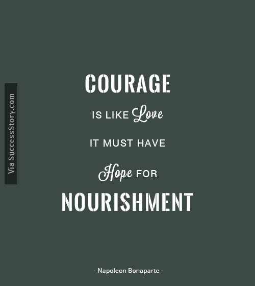 Napolean Quotes: Courage