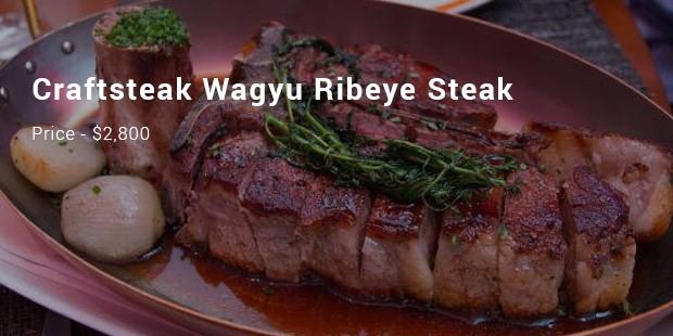 craftsteak wagyu ribeye steak