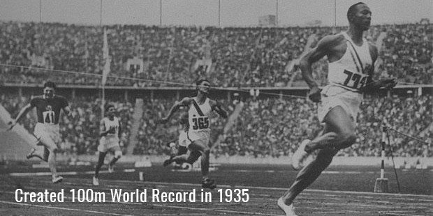 created 100m world record in 1935