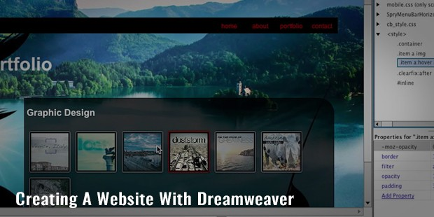 creating a website with dreamweaver