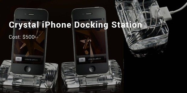 crystal iphone docking station