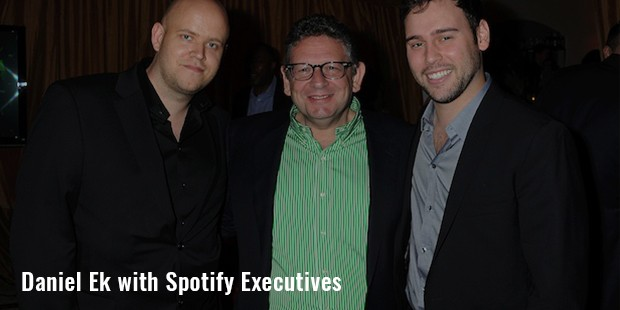 daniel ek with spotify executives image