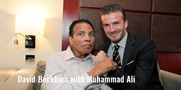 david beckham with muhammad ali