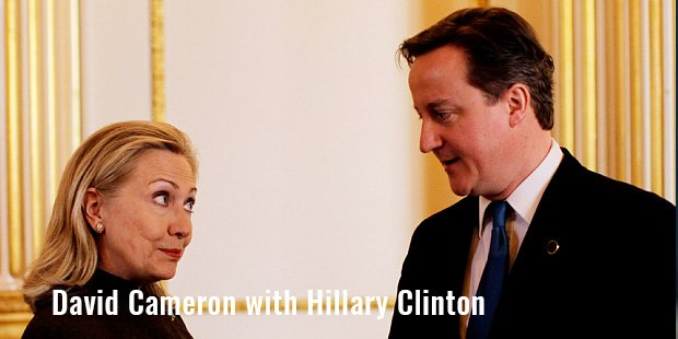 david cameron with hillary clinton