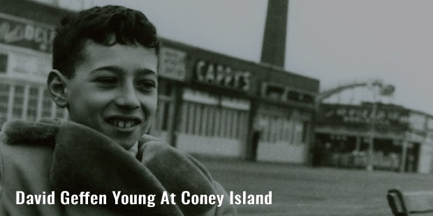 david geffen young at coney island
