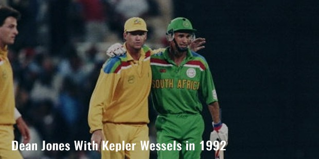 dean jones with kepler wessels in 1992
