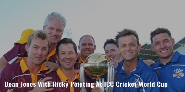 dean jones with ricky pointing at icc cricket world cup