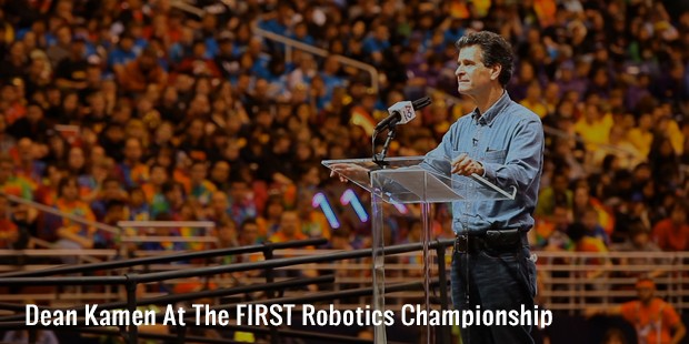 dean kamen at the first robotics championship