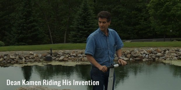 dean kamen riding his invention