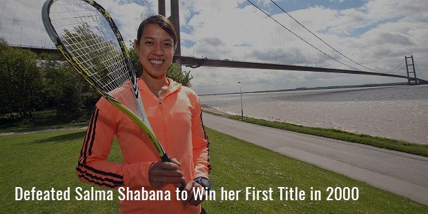 defeated salma shabana to win her first title in 2000