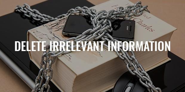 delete irrelevant information