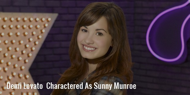 demi lovato  charactered as sunny munroe
