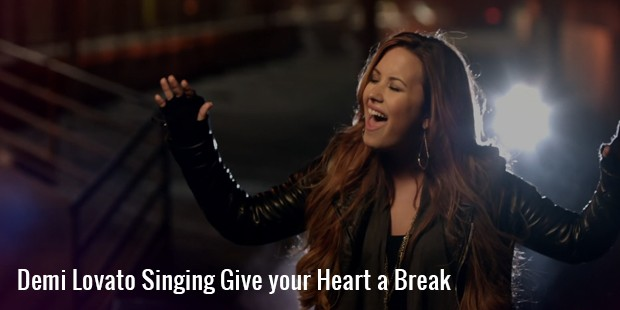 demi lovato singing give your heart a break