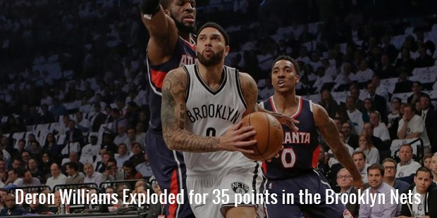 deron williams exploded for 35 points in the brooklyn nets
