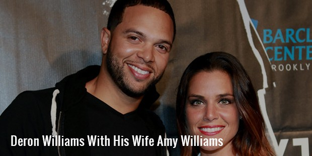 deron williams with his wife amy williams