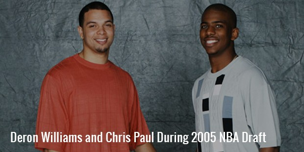deron williams and chris paul during 2005 nba draft