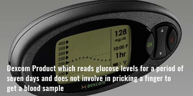 dexcom product which reads glucose levels for a period of