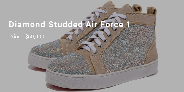 diamond studded air force 1
