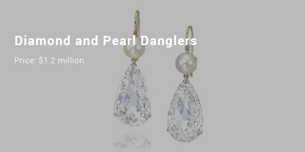 diamond and pearl danglers